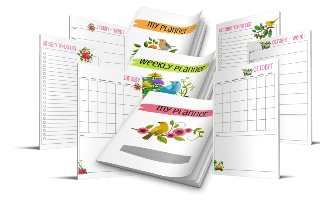 Busy Bee Content PLR Weekly Planner
