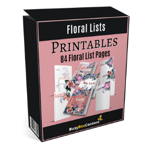 PLR Printable Floral Lists